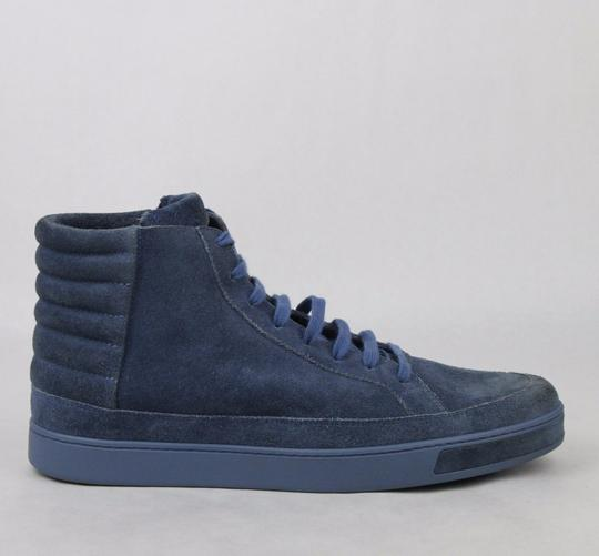 Gucci Blue Men's Suede Hi-top Sneakers 11 G/Us 11.5 378989 4239 Shoes Image 5