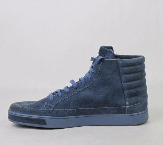 Gucci Blue Men's Suede Hi-top Sneakers 11 G/Us 11.5 378989 4239 Shoes Image 6