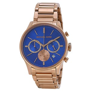 Michael Kors NEW WOMENS MICHAEL KORS MK5911 BAILEY ROSE GOLD BLUE DIAL WATCH