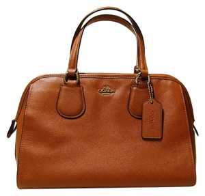 Coach Leather Gold Hardware Satchel in Brown