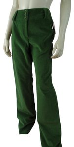 Etcetera New Corduroy Stretch Pockets Straight Pants Green