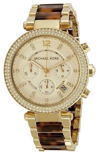 Michael Kors BRAND NEW Chronograph Parker Tortoise /Gold-Tone Watch 39mm MK5688 Image 0