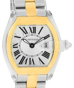 Cartier Cartier Roadster Ladies Steel Yellow Gold Silver Dial Watch W62026Y4