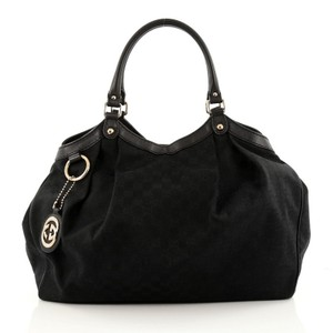 Gucci Tote Canvas Hobo Bag