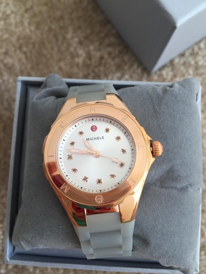 Michele BRAND NEW SMALL 'Jelly Bean' Colorful Topaz Stones Watch MWW12P000010 Image 1