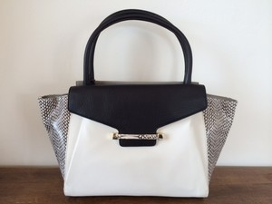 Vince Camuto Satchel in White and Black