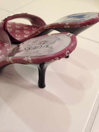 Guess By Marciano Maroon Red Sandals