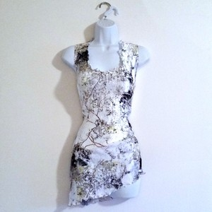 Other Shiny Plus Xl Irridescent Stretch Top White
