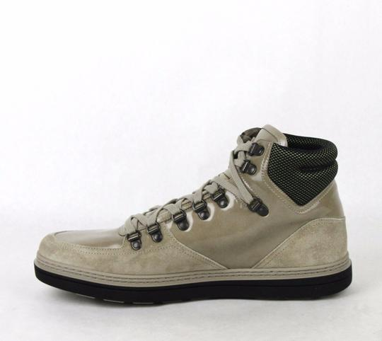 Gucci Tan Men's Patent Leather Suede Hi-top Sneakers 9g/Us 9.5 368496 1563 Shoes Image 5
