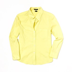 Theory Button Down Shirt Light, Pale Lemon Yellow