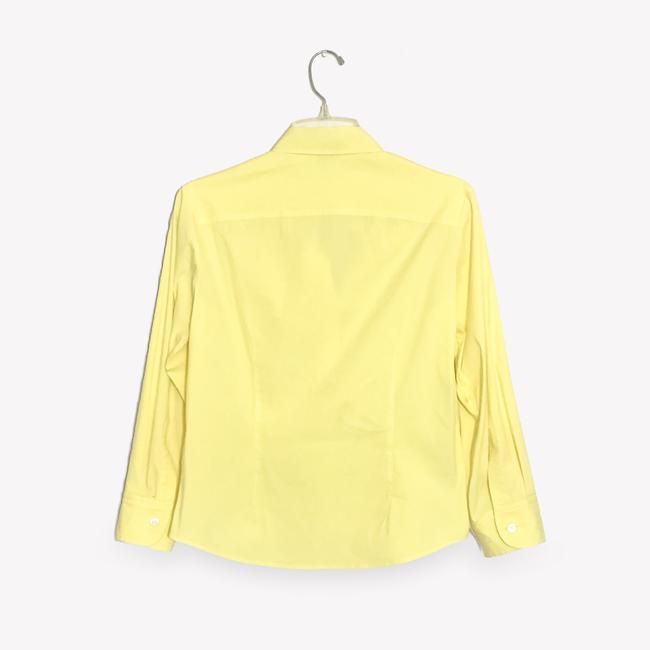 Theory Button Down Shirt Light, Pale Lemon Yellow Image 1