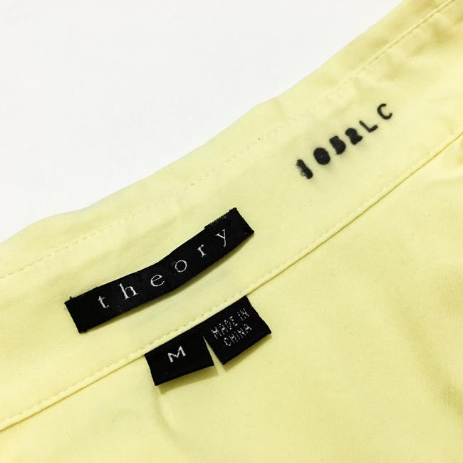 Theory Button Down Shirt Light, Pale Lemon Yellow Image 2