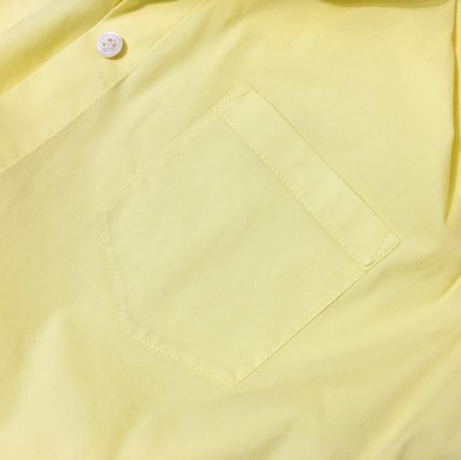 Theory Button Down Shirt Light, Pale Lemon Yellow Image 4