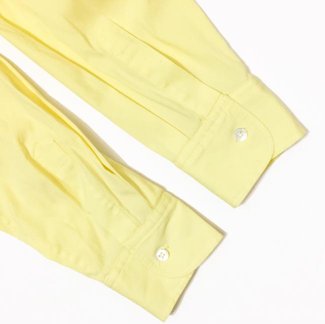 Theory Button Down Shirt Light, Pale Lemon Yellow Image 5