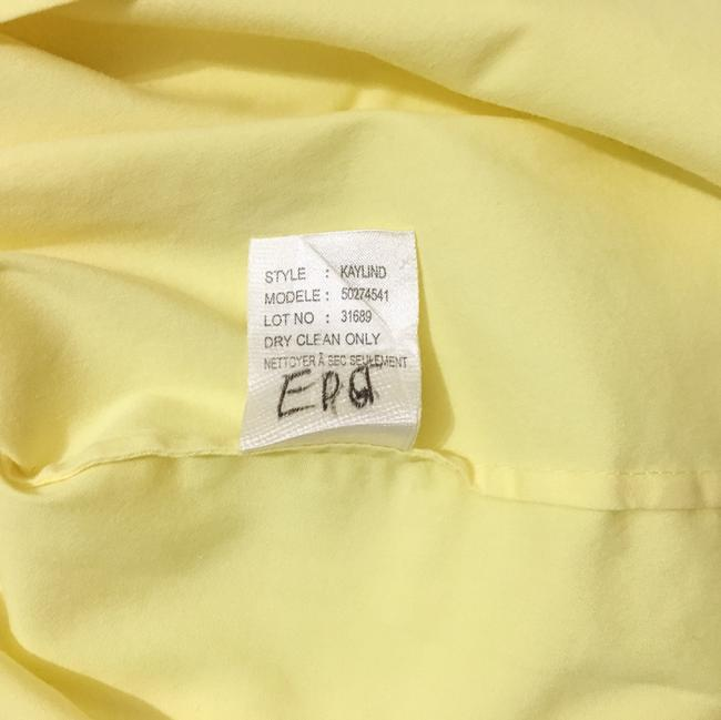 Theory Button Down Shirt Light, Pale Lemon Yellow Image 6