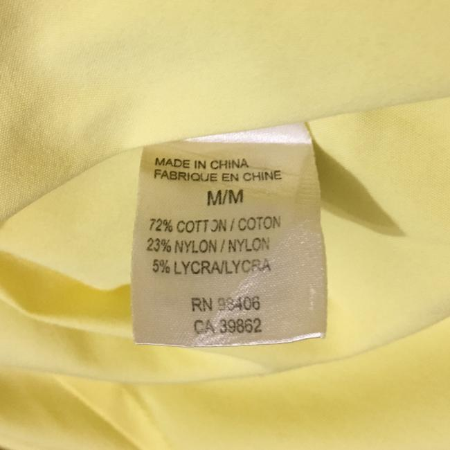 Theory Button Down Shirt Light, Pale Lemon Yellow Image 7