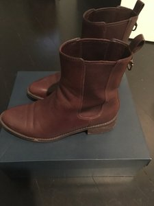 Cole Haan Leather Waterproof Waterproof Leather Short Ankle Chestnut Brown Boots