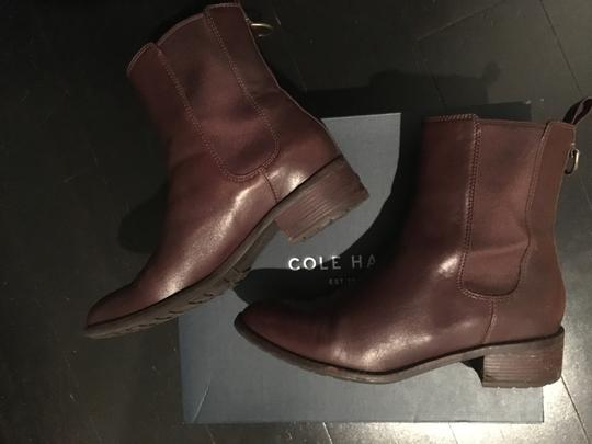 Cole Haan Leather Waterproof Waterproof Leather Short Ankle Chestnut Brown Boots Image 1