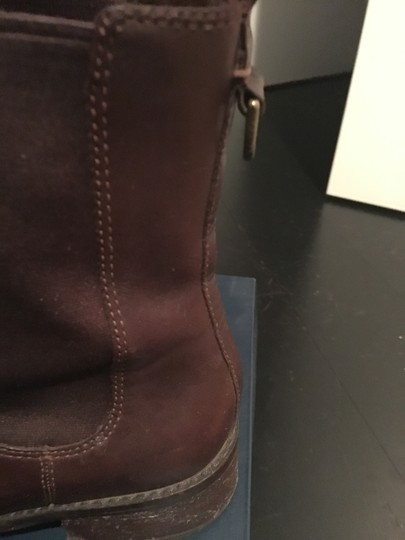 Cole Haan Leather Waterproof Waterproof Leather Short Ankle Chestnut Brown Boots Image 2