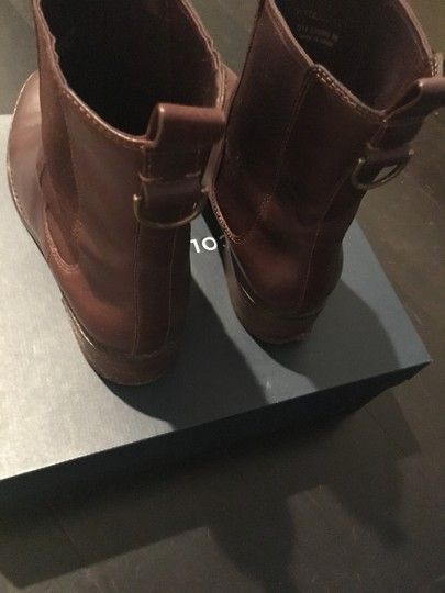 Cole Haan Leather Waterproof Waterproof Leather Short Ankle Chestnut Brown Boots Image 3