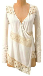 Anthropologie Crossover Front Lace Inserts Cool Comfy Viscose Button Closure Fun To Layer Cardigan
