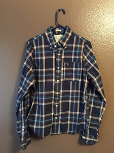 Abercrombie & Fitch Muscle Shirt Old-school Button Down Shirt Plaid