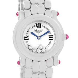 Chopard Chopard Happy Sport White Dial 5 Floating Diamonds Watch 27/8250-21