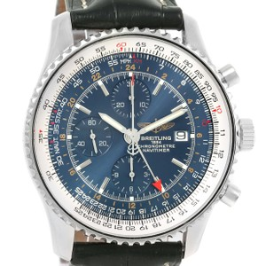 Breitling Breitling Navitimer World GMT Steel Blue Dial Black Strap Watch A24322