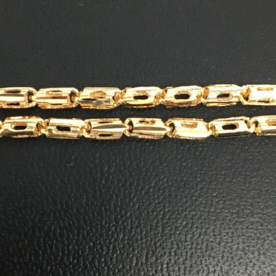 Other 18K Yellow Gold Diamond Cut Bar Chain 24 Inches Image 2
