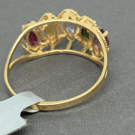 Other 14K Yellow Gold Multi-Color Stone Marquise Shape Ring Image 3