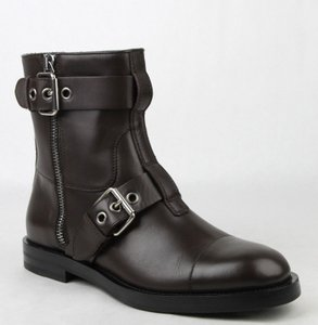 Gucci Brown Men's Leather Sella Ankle Biker Boot 9 G / Us 9.5 368430 Buv00 2140 Shoes