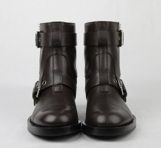 Gucci Brown Men's Leather Sella Ankle Biker Boot 9 G / Us 9.5 368430 Buv00 2140 Shoes Image 2