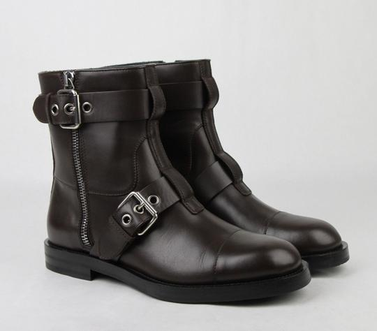 Gucci Brown Men's Leather Sella Ankle Biker Boot 9 G / Us 9.5 368430 Buv00 2140 Shoes Image 3