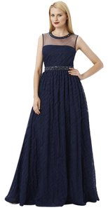 Adrianna Papell Ball Gown Gown Illusion Jeweled Dress