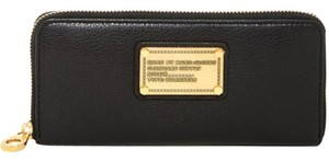 Marc by Marc Jacobs Nwt Classic Q Slim Zip Around Black Wallet