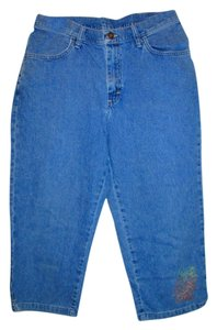 Riders by Lee Capri/Cropped Denim-Medium Wash