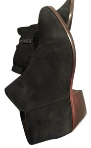 Sam Edelman Ankle Zip Up Black & Brown Boots