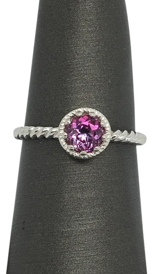 Preload https://img-static.tradesy.com/item/20302980/14k-solid-white-gold-twist-solitaire-natural-pink-topaz-ring-0-1-540-540.jpg