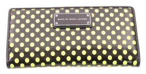 Marc by Marc Jacobs Black Green Polka Dot Wallet