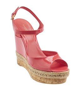 Gucci Patent Leather Wdges Pink Wedges