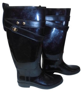 Coach Glossy Tall Black Boots