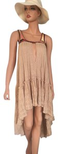 Free People short dress tan/ light brown color on Tradesy