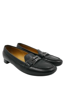 Tod's Loafers Leather Black Flats