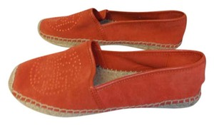 Tory Burch Espadrille Suede blood orange Flats