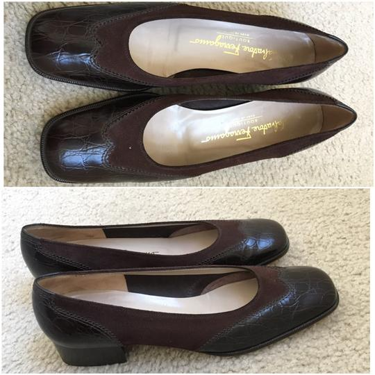 Salvatore Ferragamo Brown Pumps Image 1