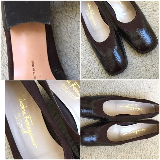 Salvatore Ferragamo Brown Pumps Image 3