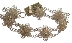 Other Sterling silver Vintage wire work floral bracelet
