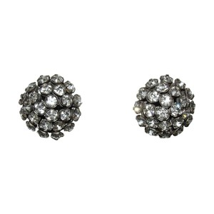 Miriam Haskell Miriam Haskell Dome Clear Rhinestone Earrings