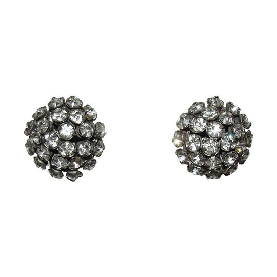 Miriam Haskell Miriam Haskell Dome Clear Rhinestone Earrings Image 0
