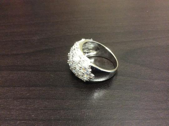 Other Fashion Ring Cubic Zirconia Silver Simulated Diamond Image 6